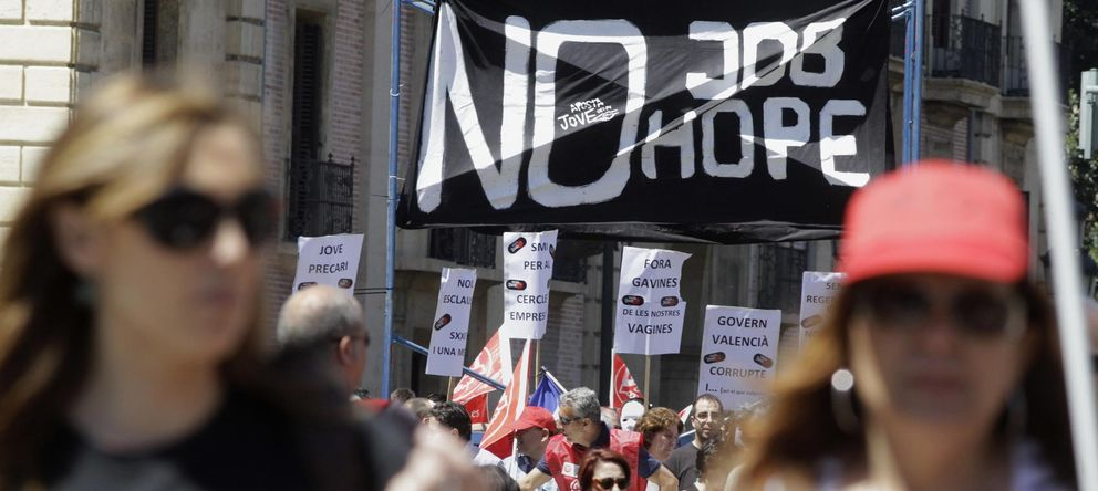 Foto: Manifestación del 1 de mayo en Valencia. (Reuters)