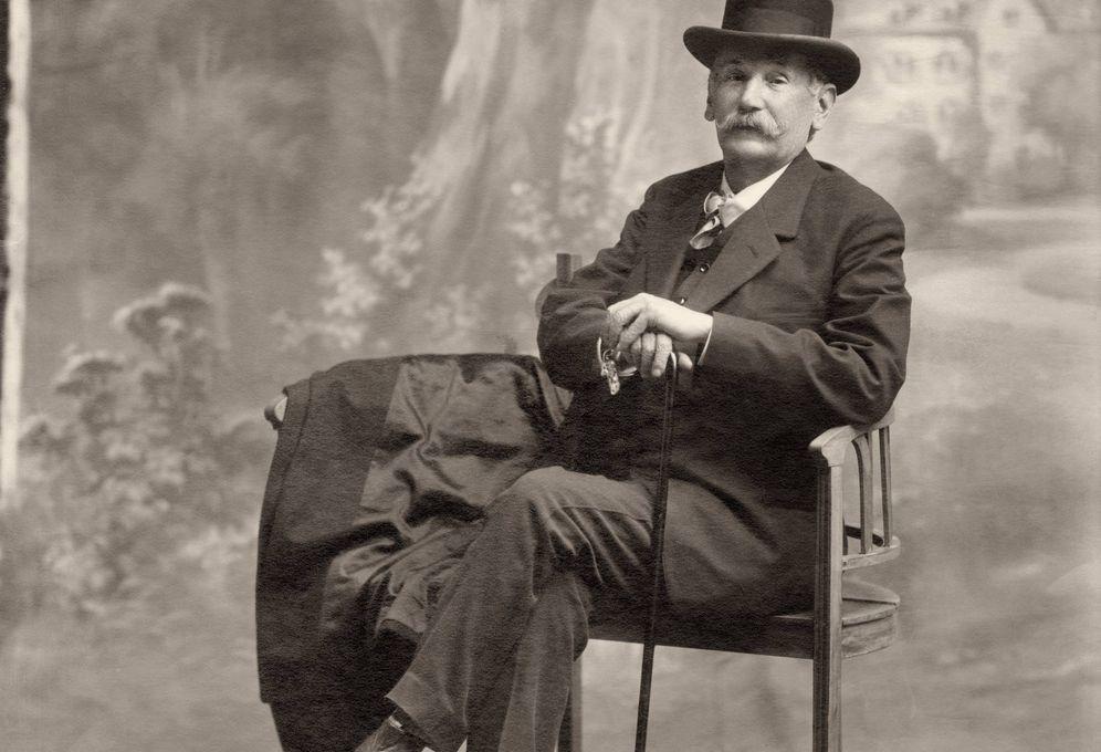 Foto: Retrato de Galdós de Antonio Calvache hacia 1915