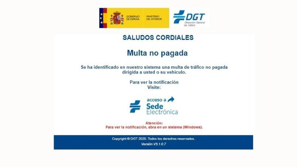 La DGT alerta de otra estafa: por qué no debemos abrir los correos de Tráfico