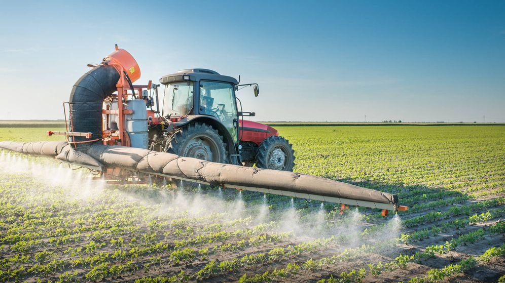 Foto: Vertido de herbicidas con maquinaria agrícola. (iStock)