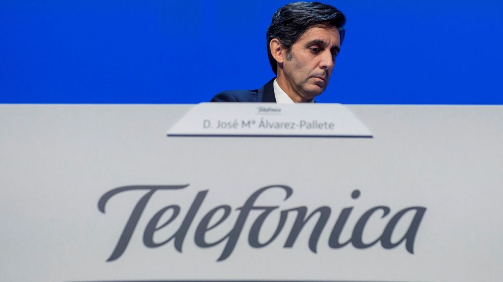 Foto: El presidente de Telefónica, José María Álvarez-Pallete, en un acto de la compañía. (EFE)