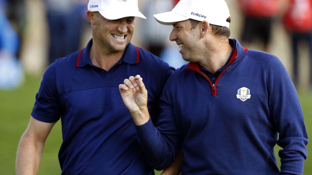 Foto: García y Noren ríen en su vuelta perfecta. (EFE)