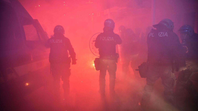 Disturbios en Milán. (EFE)