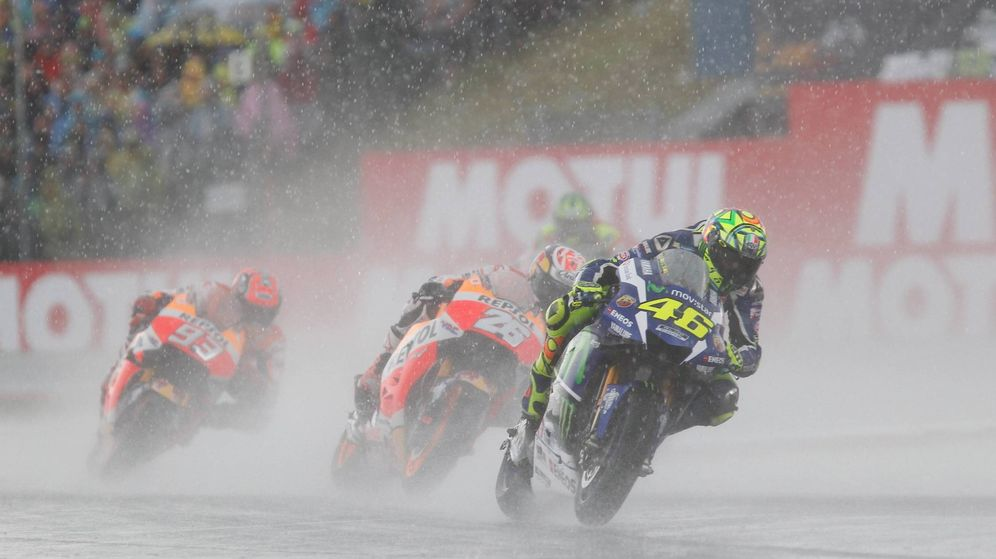 Foto: La lluvia fue la protagonista del Gran Premio de los Países Bajos (Boots Eibner/Press Photo)