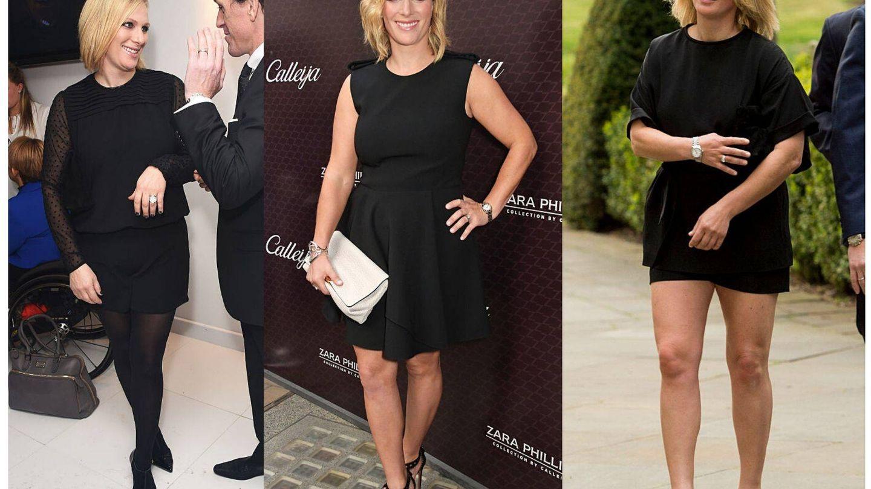 Varios looks de Zara Phillips hace una década. (Getty)