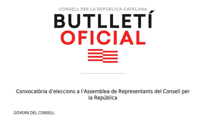 Pinche para leer el Butlletí Oficial del Consell per la República.