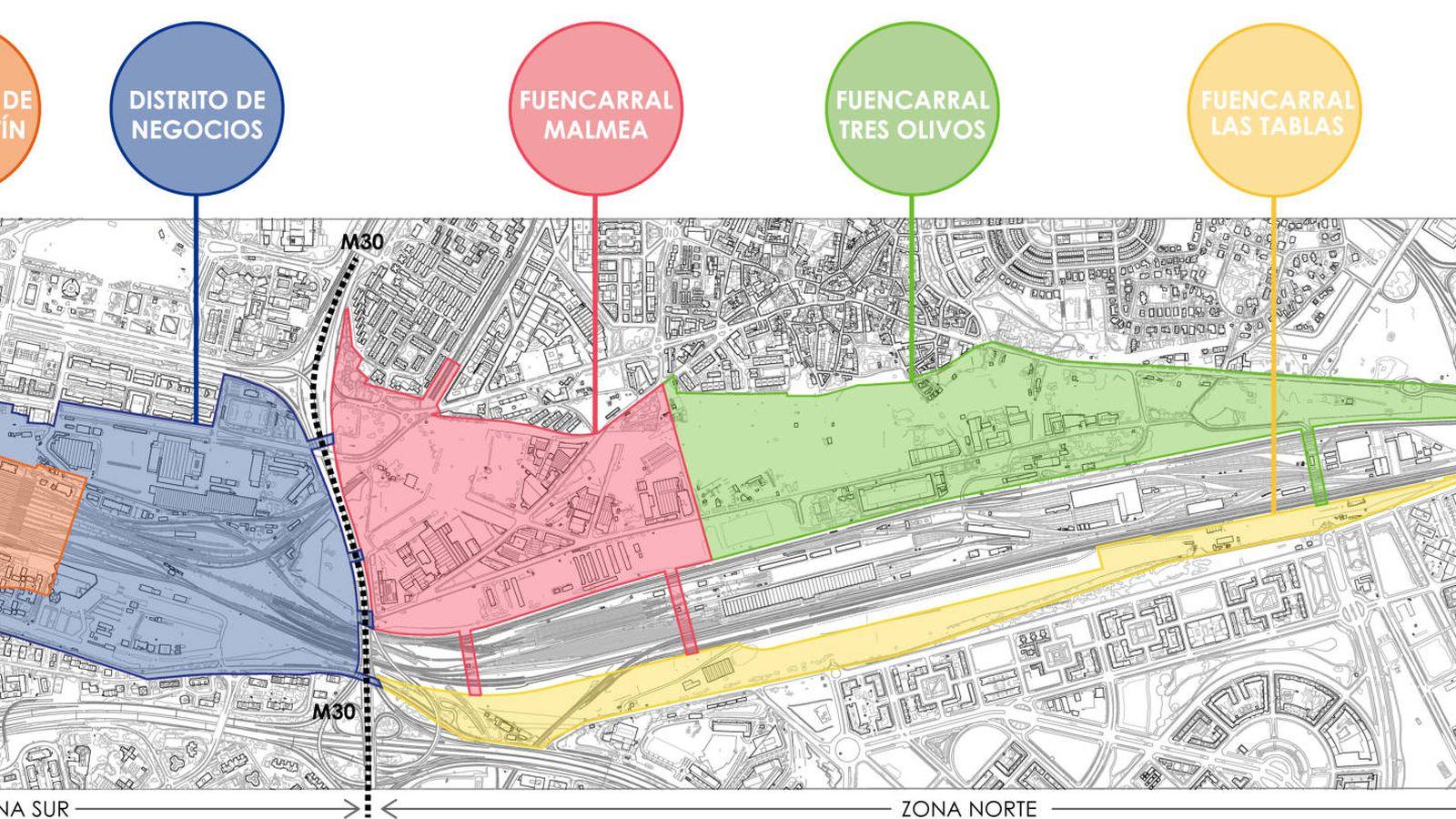 Foto: El nuevo plan de operación Chamartín se ha organizado en cinco ámbitos.