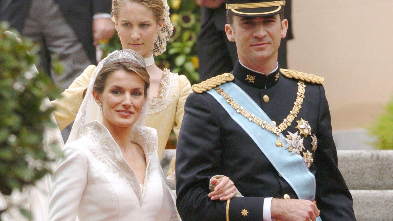 Ana Codorniú, en la boda de Felipe y Letizia. (Getty)
