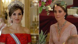 ¡Por fin! La reina Letizia y Kate, cara a cara en la cena de gala en Buckingham Palace