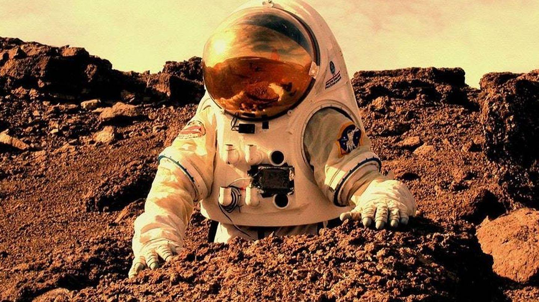 Imagen con la que Fontcuberta ilustra 'Gossan: Misión a Marte'.