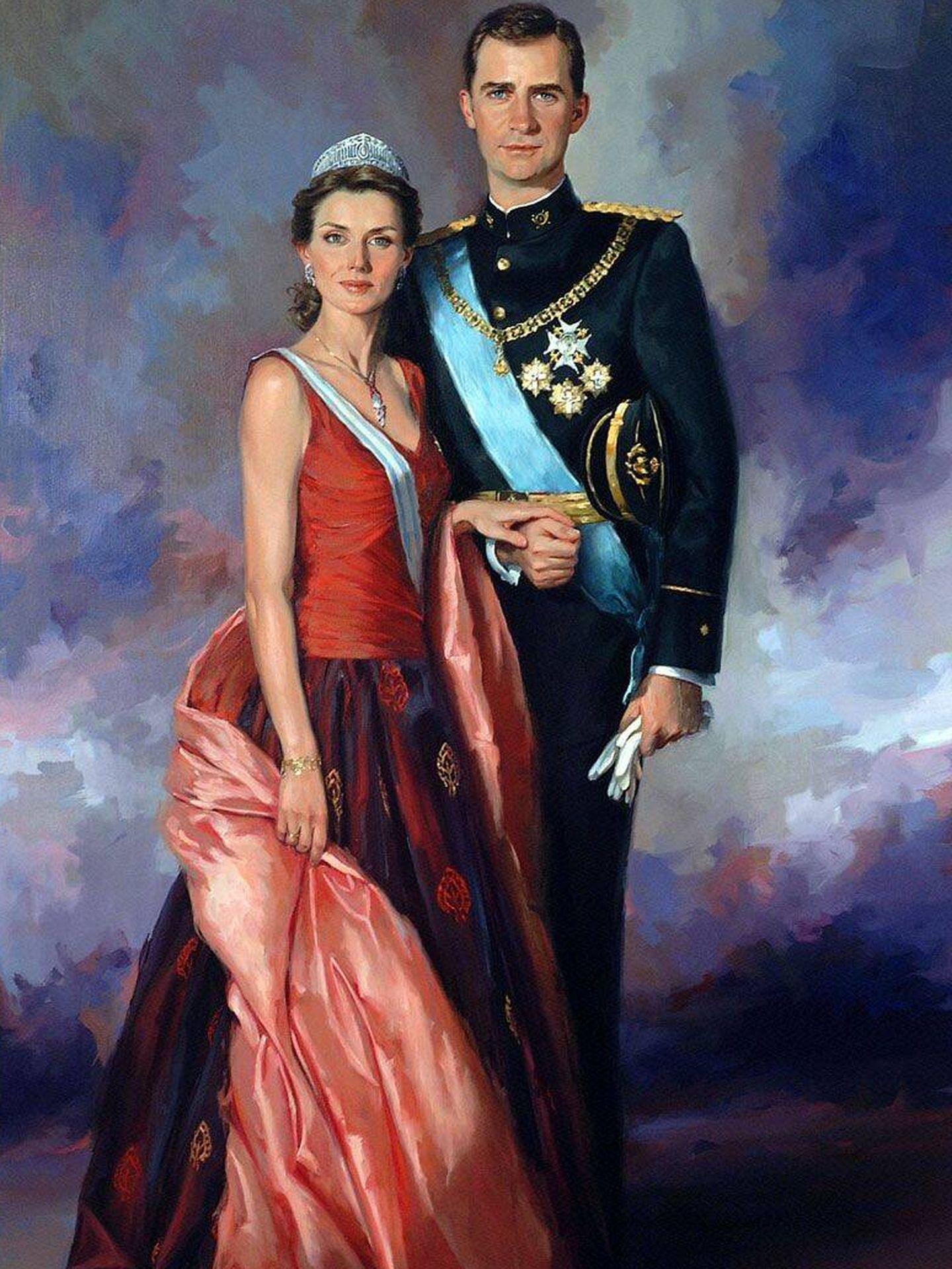 Retrato de don Felipe y doña Sofía. (Cortesía)