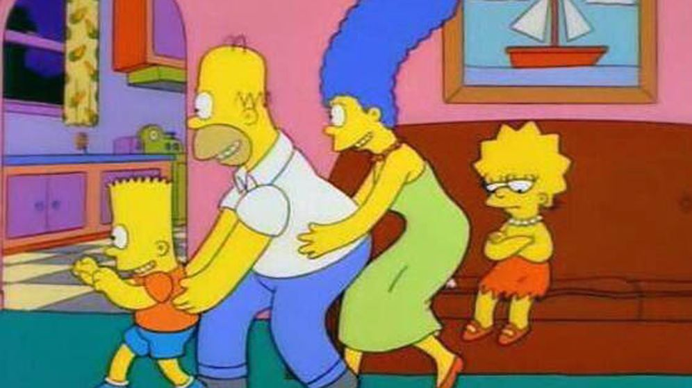 Foto: La familia Simpson cantando a Lisa: No conquistas nada con una ensalada