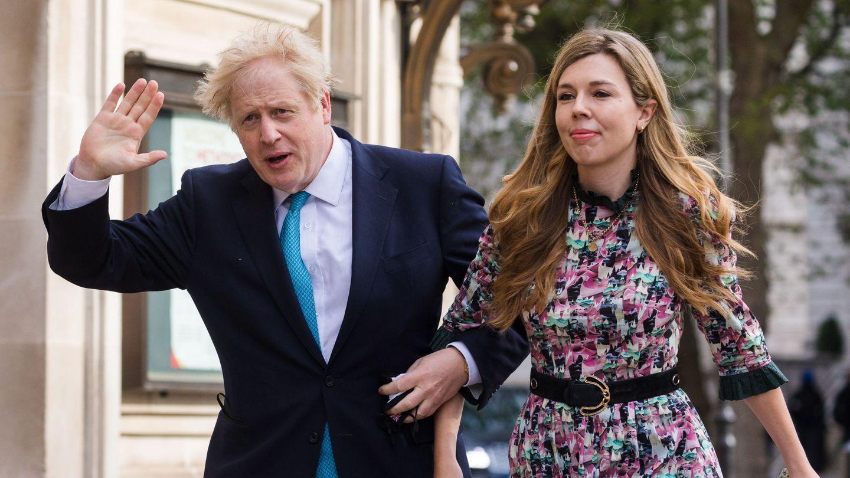 Carrie Symonds y Boris Johnson en una imagen de archivo. (EFE)