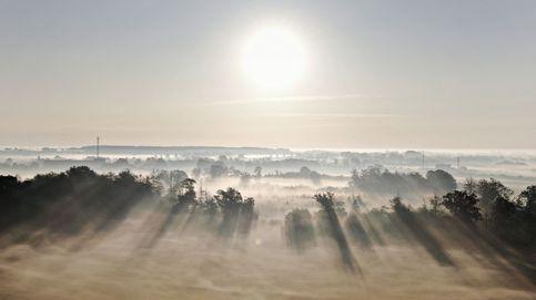 Niebla matutina en la isla de Fyn