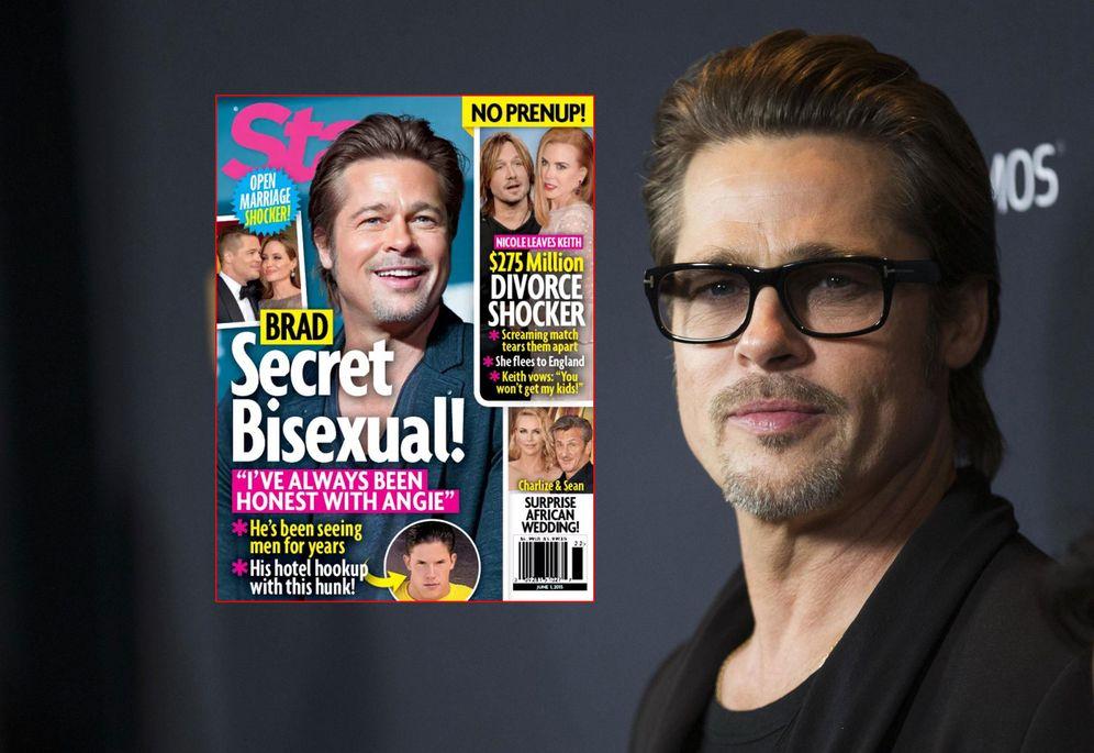 Foto: Brad Pitt y sus diez años de relaciones bisexuales, según la prensa americana