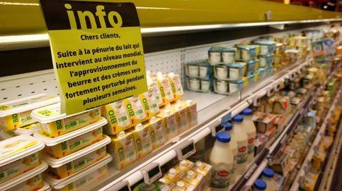 Escasez de mantequilla en Francia
