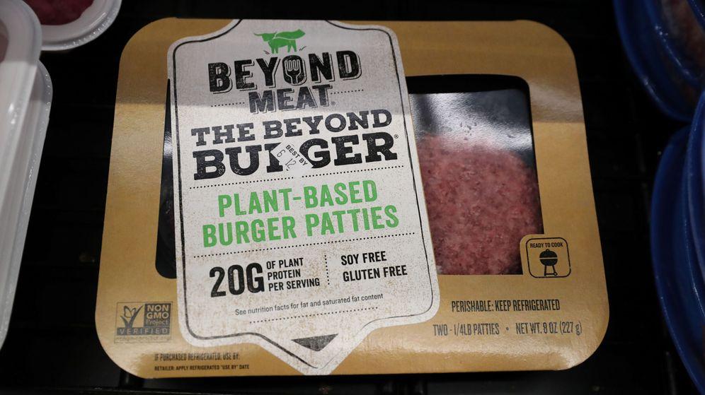 Foto: Una de las hamburguesas vegetales de Beyond Meat. (Reuters)