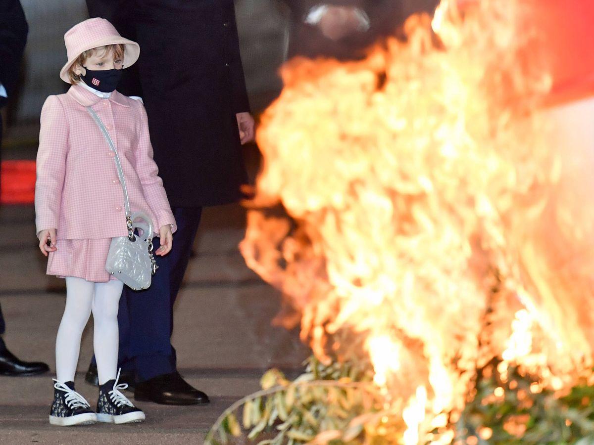 Foto: La princesa Gabriella, con su look de Dior. (Getty)