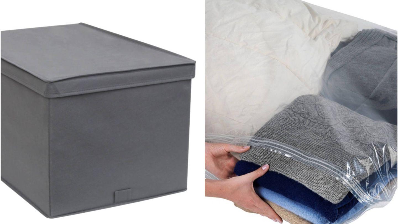 Caja y bolsas de vacío de Leroy Merlin. (Cortesía)