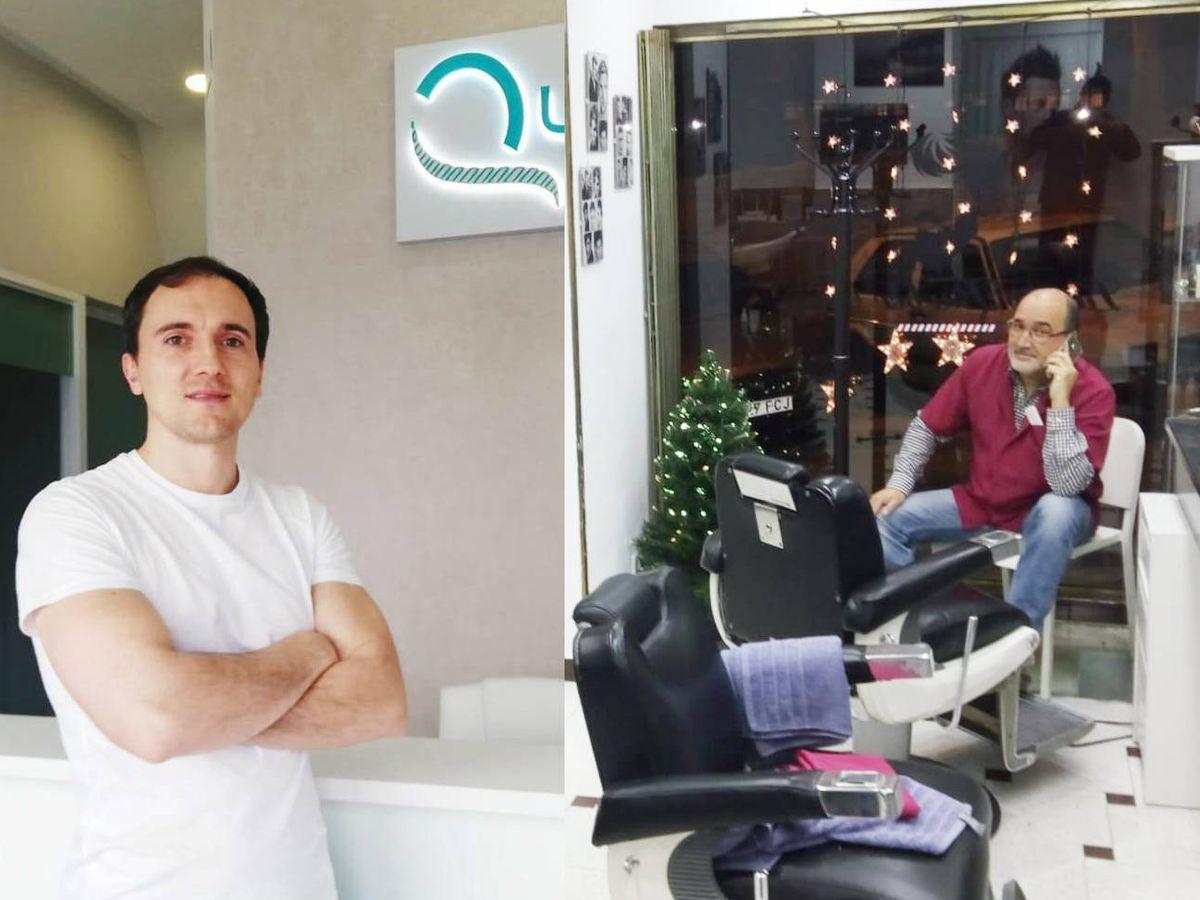 Foto: Moisés, fisioterapeuta, y Juan, peluquero, planean reabrir sus negocios este lunes.