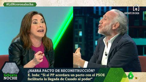 Guerra total entre Eduardo Inda y Angélica Rubio en 'La Sexta noche'