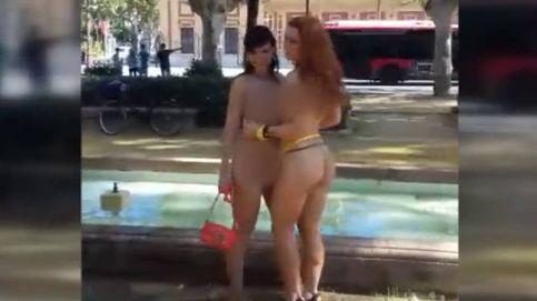 Ruedan una película porno en Sevilla a plena luz del día