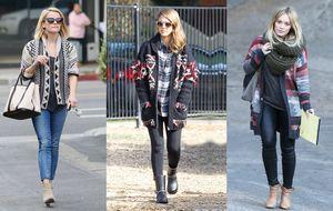 El cárdigan de punto, la nueva prenda estrella de las 'celebrities' contra el frío