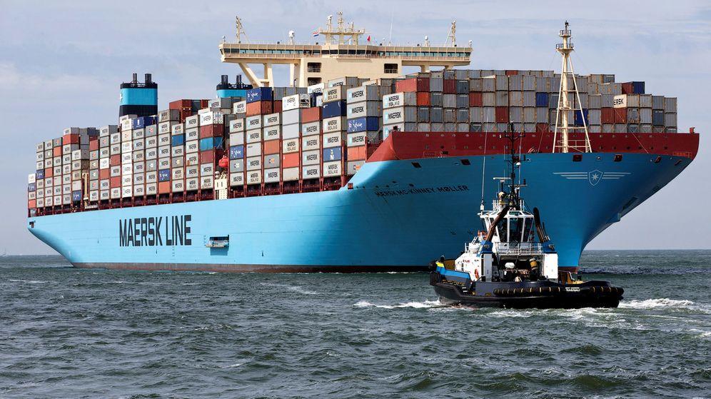 Foto: El Maersk Mc-Kinney Moller, el primero de los Triple E, fletado en 2013. (Efe)