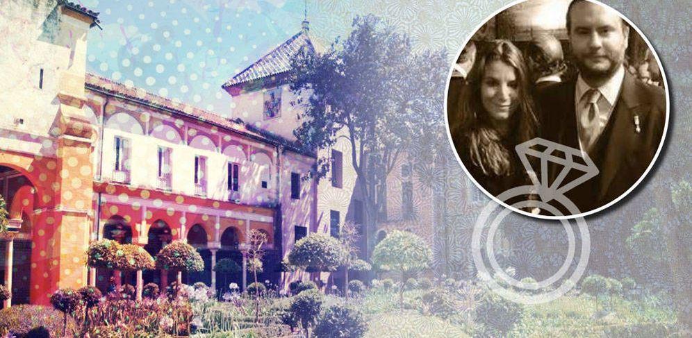 Foto: Fotomontaje de los novios y el palacio en el que contraerán matrimonio. (Vanitatis)