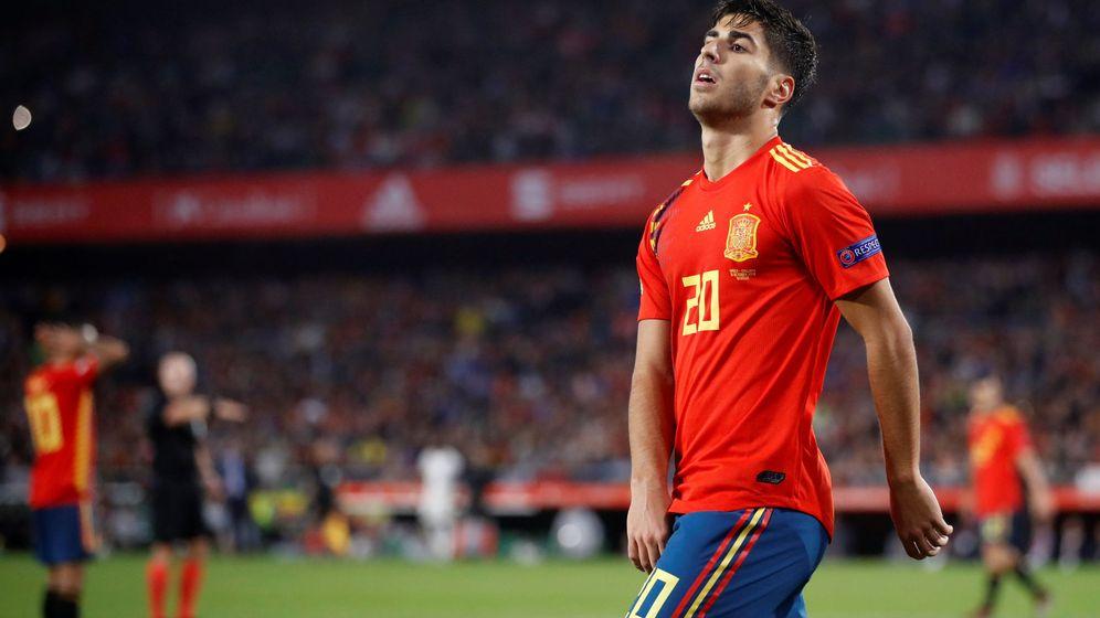 Foto: Marco Asensio, el pasado lunes en Sevilla. (Reters)