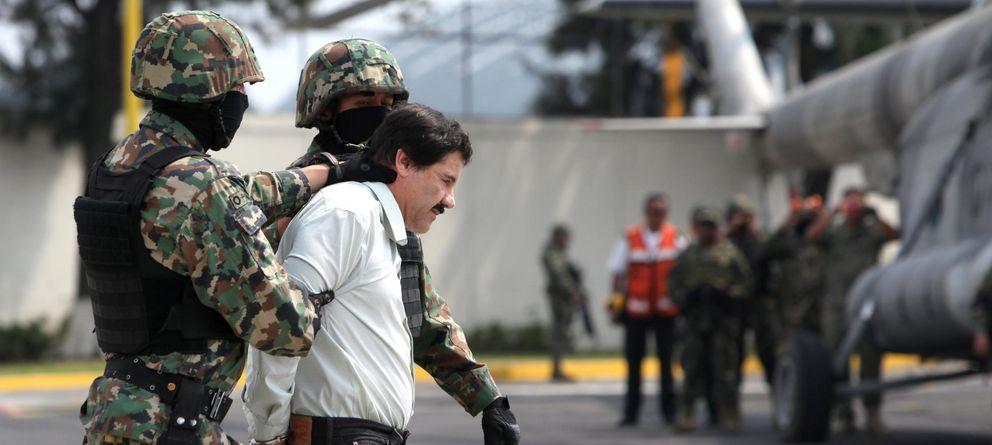 Foto: El 'Chapo' Guzmán, tras su detención. (Efe)