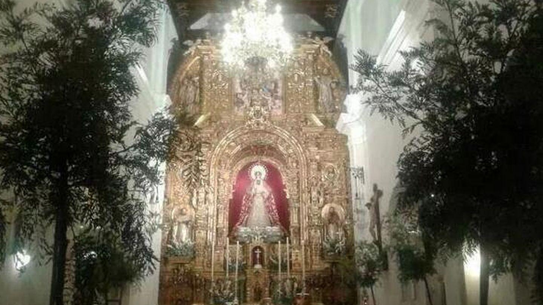 Imagen de la iglesia decorada (Twitter)