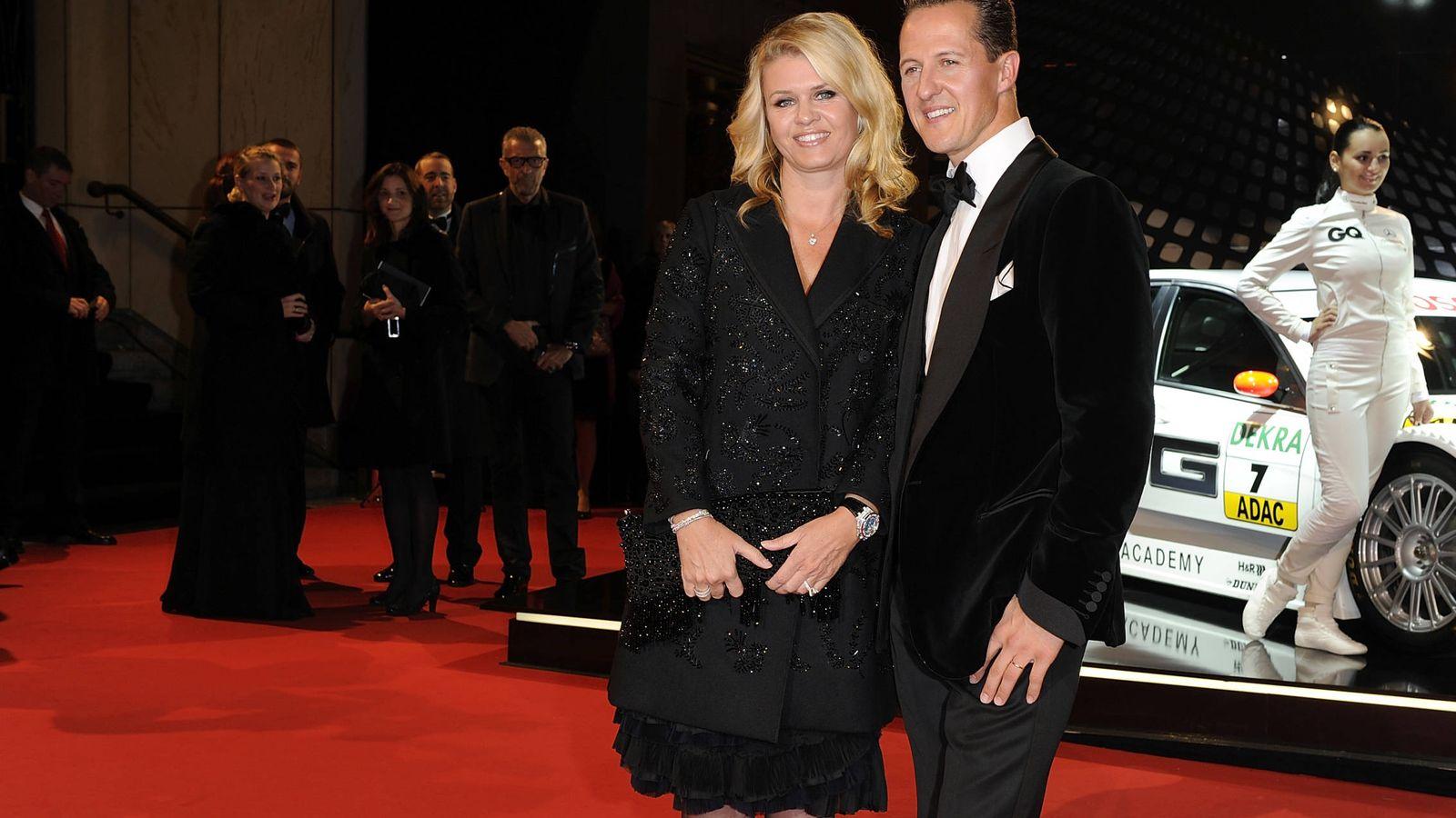 Foto: El matrimonio Schumacher en Berlín, en 2010. (Getty)