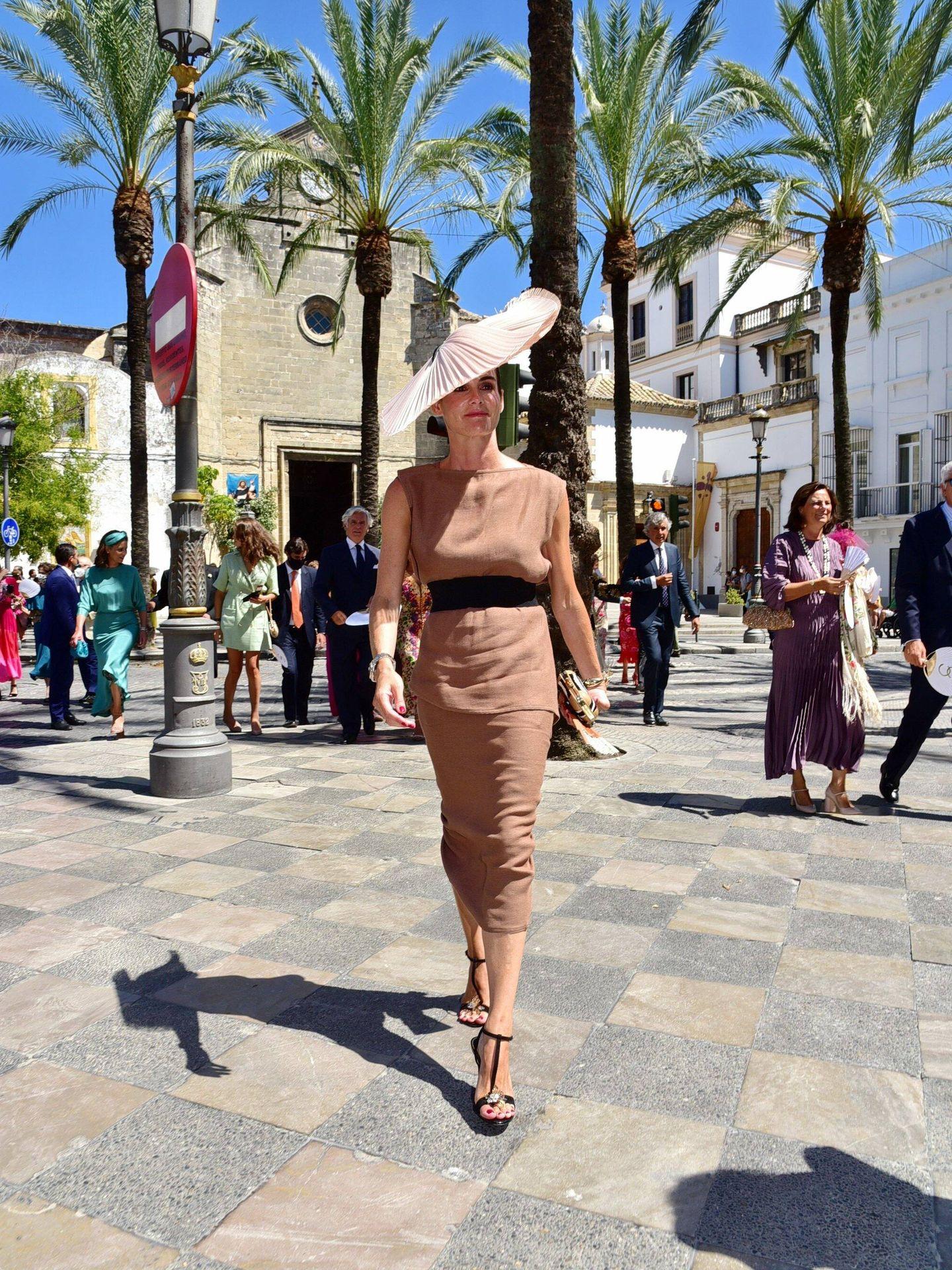 Inés Domecq, en la boda de su prima en Jerez. (CP)