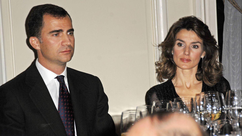 Letizia y Felipe en una imagen en el Ritz de 2007. (Gtres)