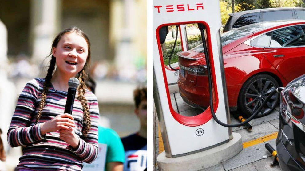 Greta Thunberg en un eléctrico de Tesla podría llegar a la COP25 en 7 horas