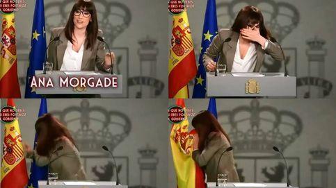 El día que Ana Morgade se limpió la nariz con la bandera de España