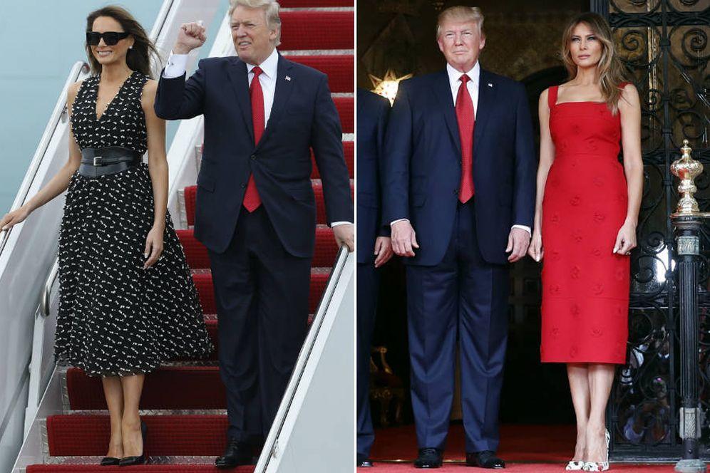 Foto: Melania Trump en sus dos últimas apariciones. (Gtres)