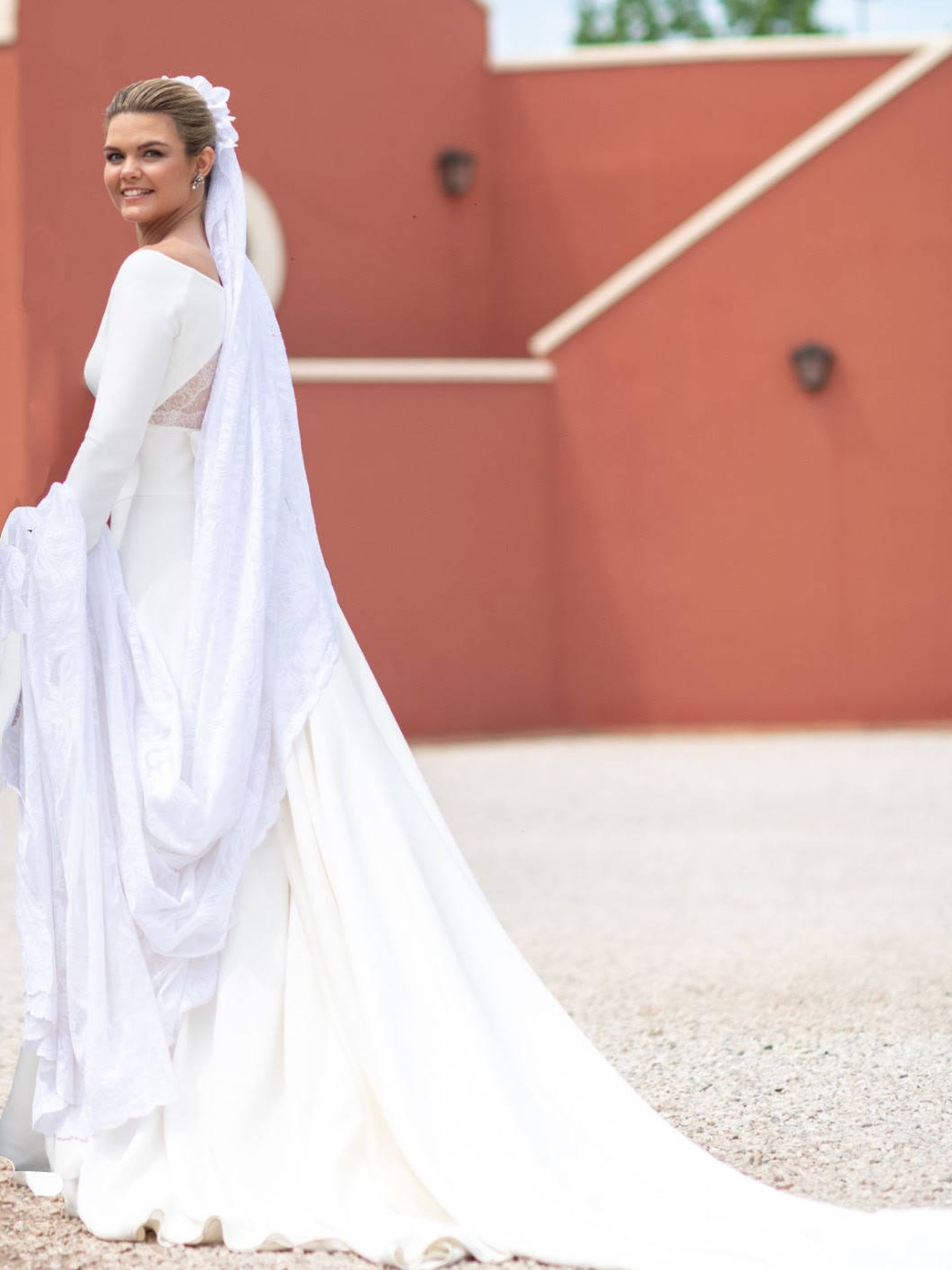 La espalda del vestido de Alejandra R. de Rato. (Pronovias)