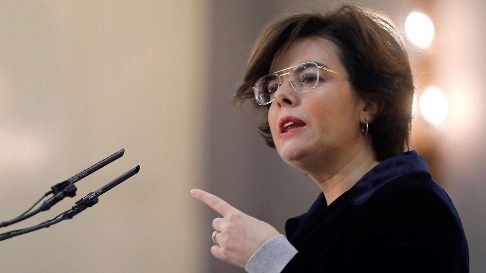 Soraya: Puigdemont va de ridículo en ridículo. Es una megalomanía absurda