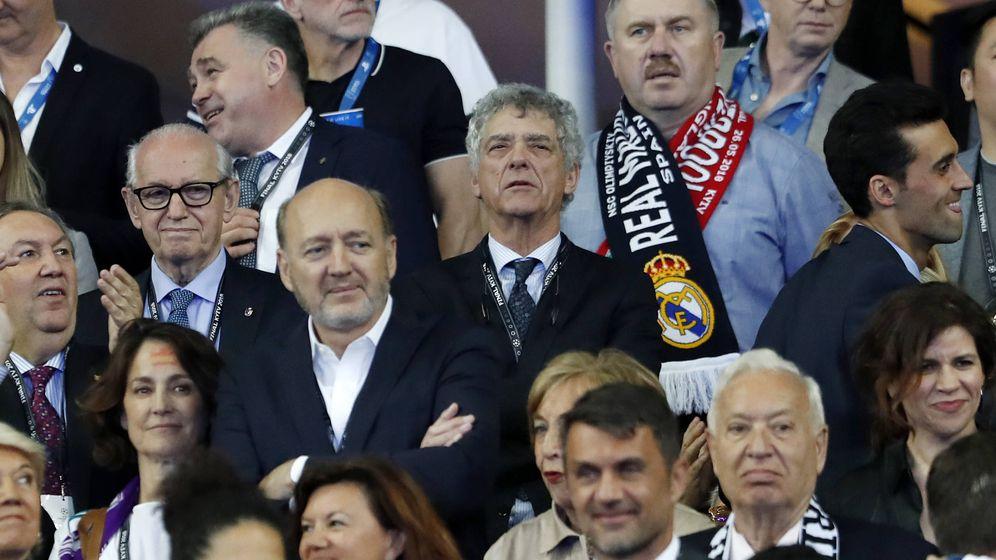 Foto: Villar, en el área VIP del Estadio Olímpico de Kiev. (Javier Martín)