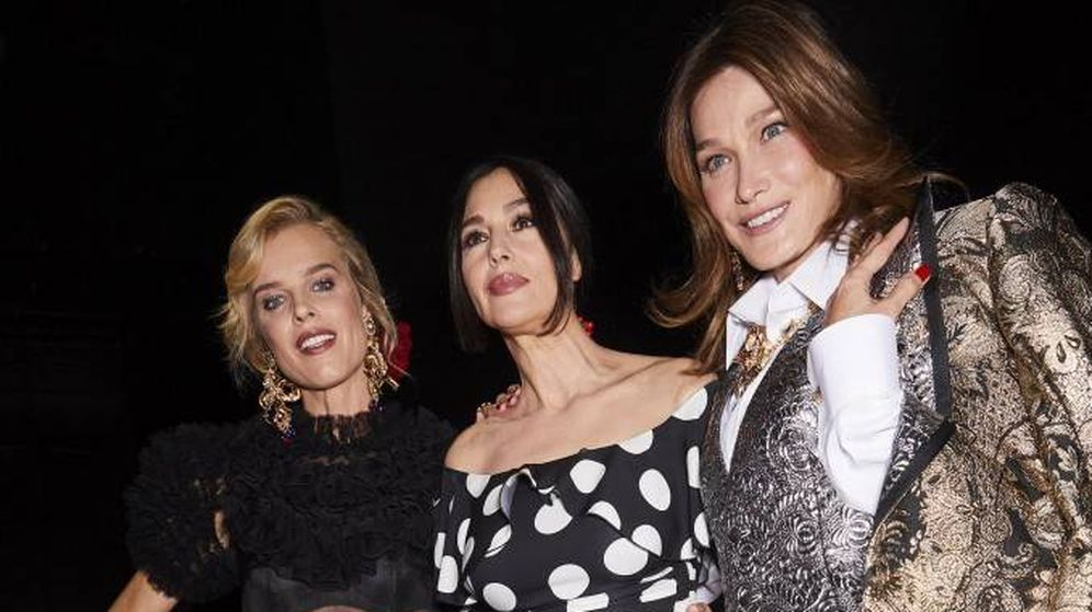 Foto: Eva Herzigova, Monica Bellucci, Carla Bruni. (Dolce & Gabbana)