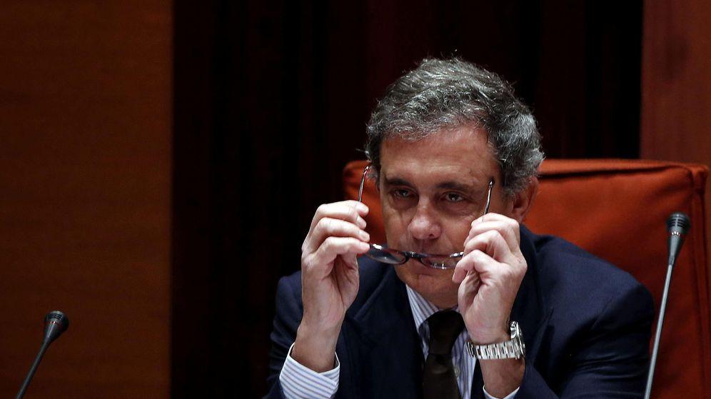 Foto: Jordi Pujol Ferrusola en su comparecencia en el Parlament. (EFE)