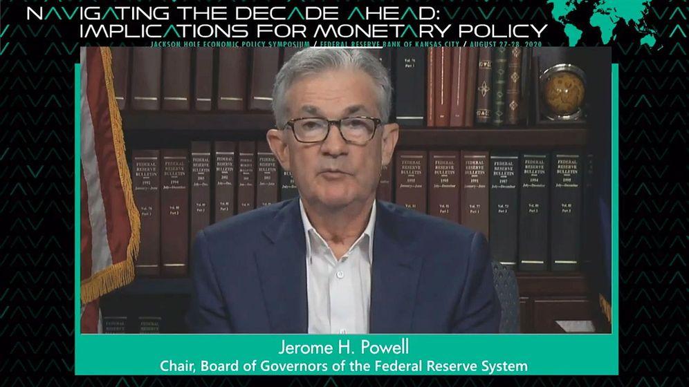 Foto: Jerome H. Powell, presidente de la Reserva Federal, en el simposio anual (este año virtual) de Jackson Hole 2020.