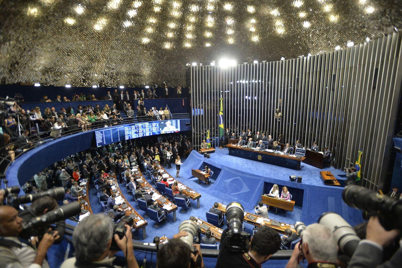 Foto: La presidenta suspendida de Brasil, Dilma Rousseff, presenta sus alegatos finales en el proceso que enfrenta en el Senado (Efe).
