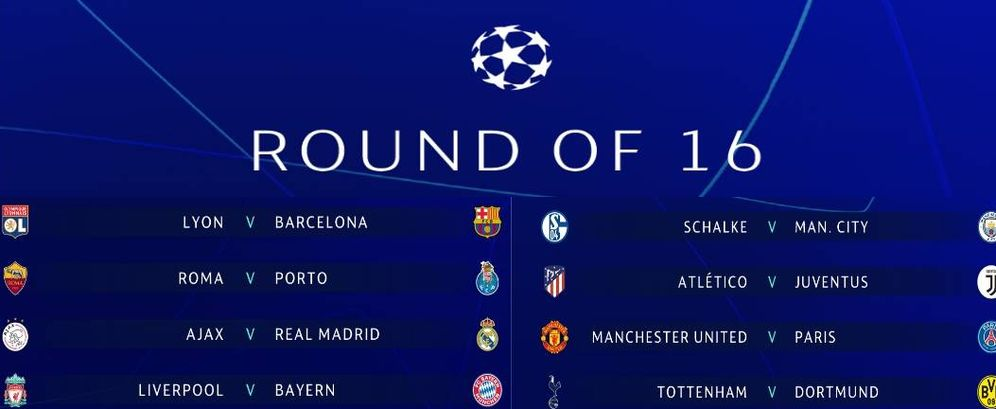 Champions League: Sorteo Champions: Ajax-Madrid, Lyon-Barça y ...