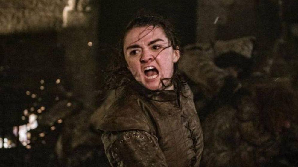 Foto: Arya Stark en un momento de la batalla. (HBO)