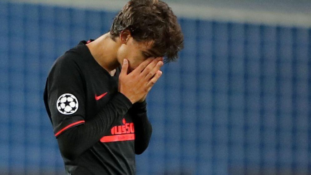 Foto: João Félix, desolado tras la derrota ante el Leipzig. (Reuters)