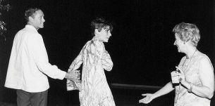 Mel Ferrer, Audrey Hepburn y la esposa de Arthur Rubinstein en el Marbella Club