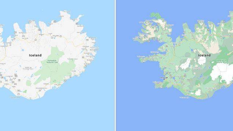 Así se verán los nuevos mapas de Google Maps. (Google)
